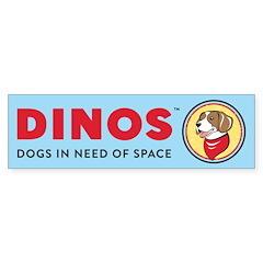 DINOS Logo Bumper Sticker