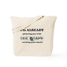 Duct Tape Humor Tote Bag