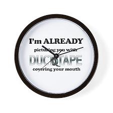 Duct Tape Humor Wall Clock