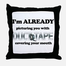 Duct Tape Humor Throw Pillow