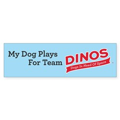 Team DINOS Logo Bumper Sticker