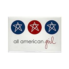 all american girl Rectangle Magnet (10 pack)