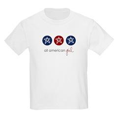 all american girl Kids T-Shirt