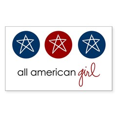 all american girl Rectangle Decal