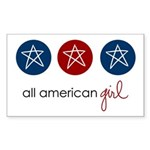 all american girl Rectangle Sticker