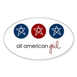 all american girl Oval Sticker