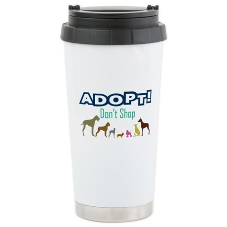 Adopt Don't Shop Stainless Steel Travel Mug