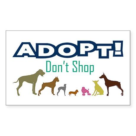 Adopt Don't Shop Sticker (Rectangle)