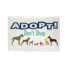 Adopt Don't Shop Rectangle Magnet