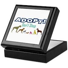 Adopt Don't Shop Keepsake Box