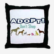Adopt Don't Shop Throw Pillow