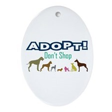 Adopt Don't Shop Ornament (Oval)