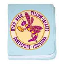 Byrd High Yellow Jackets baby blanket