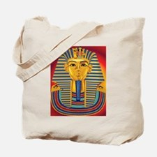 Tut Mask on Red Tote Bag