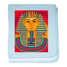 Tut Mask on Red baby blanket