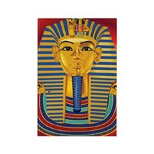 Tut Mask on Red Rectangle Magnet