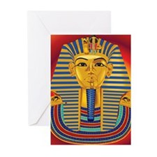 Tut Mask on Red Greeting Cards (Pk of 20)