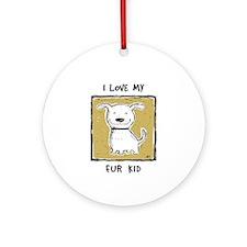 """""""I Love My Fur Kid"""" (green) Ornament"""
