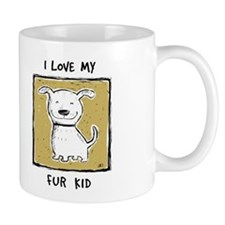 """I Love My Fur Kid"" (green) Mug"