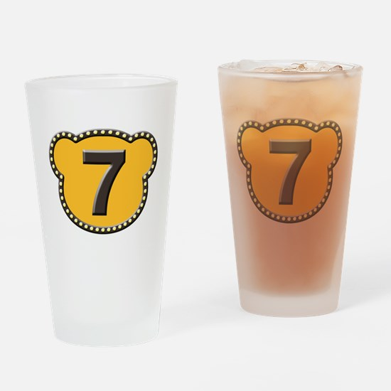 Bear Head Number 7 seven Drinking Glass