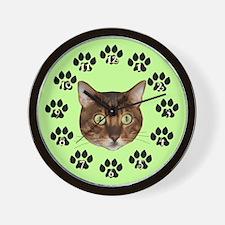 Bengal Cat Face Wall Clock