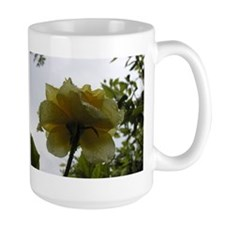 Yellow Rose Droplets Mug