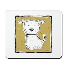 Cute Dog (green) Mousepad