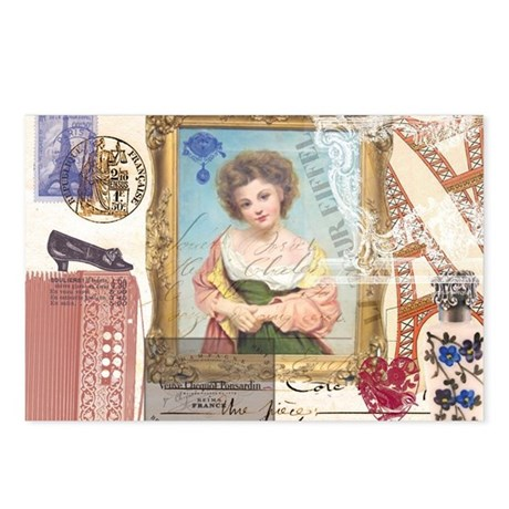 Young Girl in Paris Postcards (Package of 8)