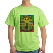 Tut Mask on Green Blue Purple T-Shirt