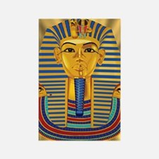 Tut Mask on Golden Rays Rectangle Magnet