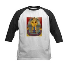 Tut Mask on Burgundy and Gold Tee