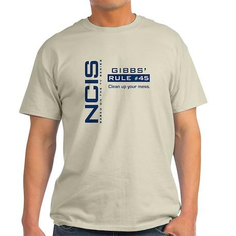 NCIS Gibbs' Rule #45 Light T-Shirt