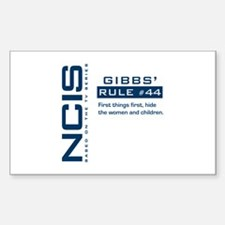 NCIS Gibbs' Rule #44 Decal