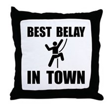 Best Belay Throw Pillow