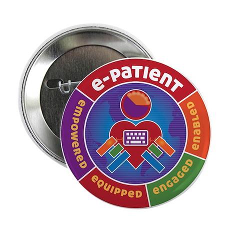 """e-Patient 2.25"""" Button (10 pack)"""