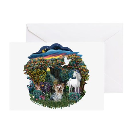 WoodlandMagic-Yorkie#13 Greeting Cards (Pk of 10)