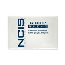 NCIS Gibbs' Rule #40 Rectangle Magnet