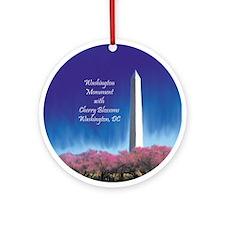 Washington Ornament with Cherry Blossoms Ornament