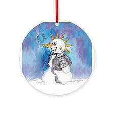 Punk Rocker Snowman Ornament