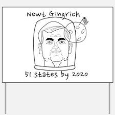 Newt Gingrich Astronaut Yard Sign