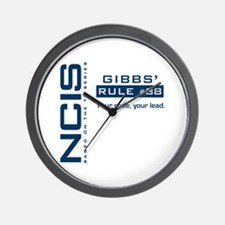 NCIS Gibbs' Rule #38 Wall Clock