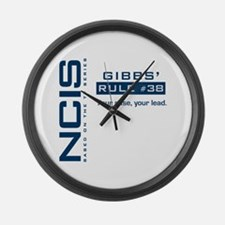 NCIS Gibbs' Rule #38 Large Wall Clock
