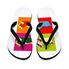 Schnauzer Silhouette Pop Art Flip Flops