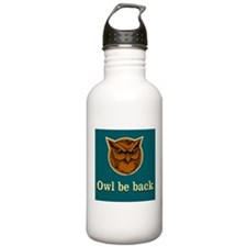 Owl Be Back Sports Water Bottle