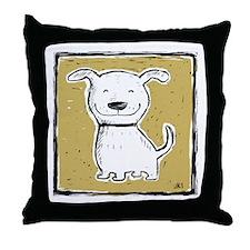 Cute Dog (green) Throw Pillow