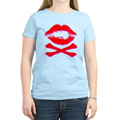 """Lipstick Crossbones"" Women's Light T-Shirt"