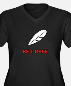 Red Mage Women's Plus Size V-Neck Dark T-Shirt