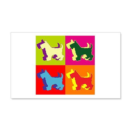 Scottish Terrier Silhouette Pop Art 22x14 Wall Pee