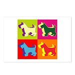 Scottish Terrier Silhouette Pop Art Postcards (Pac