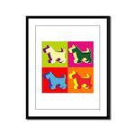 Scottish Terrier Silhouette Pop Art Framed Panel P